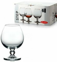 Transparante Pasabahce Step - Cognacglazen - Set van 6 - 530 ml