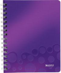 Notitieboek Leitz WOW A5 spiraal PP lijn paars