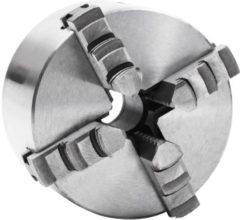 VidaXL Klauwplaat met 4 bekken zelfcentrerend 100 mm staal