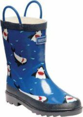 Regatta - Kids Minnow Printed Wellington Boots - Laarzen - Kinderen - Maat 24 - Blauw