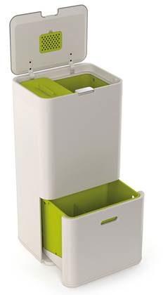 Afbeelding van Groene Joseph Joseph Intelligent Waste Totem Afvalemmer 60 Liter (36+24 L)