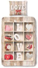 Kinderbettwäsche, Good Morning, »Liebesregal«, in Regaloptik