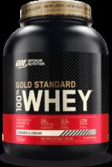 Optimum Nutrition Gold Standard 100% Whey Protein - Eiwitpoeder - Eiwitshake / Proteine Shake - Cookies & Cream - 2270 gram (73 shakes)