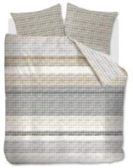 Grijze Ariadne At Home Quilted Squares Dekbedovertrek - Lits-jumeaux (240x200/220 Cm + 2 Slopen) - Katoen - Natural