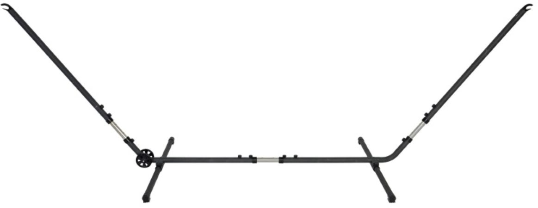 Afbeelding van Zwarte Outdoor Living Hangmat standaard metaal met wielen (versterkte versie nieuwe uitvoering)