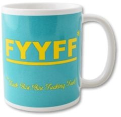 Blauwe Paper dreams Funny Mug FYYFF