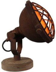 Bruine BRILLIANT Mila tafellamp roestkleurige binnenverlichting, tafellampen, decoratief | 1x D45, E14, 25W, geschikt voor hanglampen (niet inbegrepen) | A ++ | Met snoerschakelaar