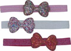 Roze Jessidress Baby Geschenken sets Feestelijke Baby Haarbanden Set met pailletten