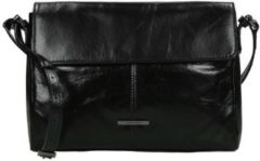 Zwarte Claudio Ferrici Pelle Vecchia 22052 Shoulder bag black