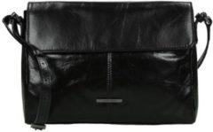 Zwarte Claudio Ferrici Pelle Vecchia Shoulder Bag black3 Damestas