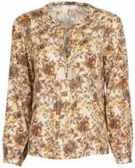 Cream blouse AugustaCR Blouse met all over print multi