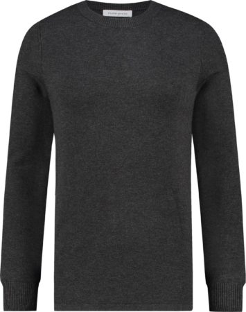 Afbeelding van Purewhite Regular fit grijs knitwear never out of stock never out of stock Heren Sweater Maat M
