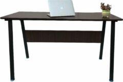 VDD Industrial Vintage Design Computertafel bureau Stoer - industrieel vintage - 130 cm breed - zwart metaal bruin hout