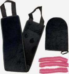 Zwarte Esproducts EsPoducts® Zelfbruiner handschoen en rug tanning set | Te gebruiken voor Zelfbruinings Spray en Mousse
