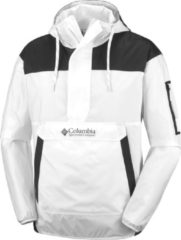 Witte Columbia Outdoorjas Challenger Windbreaker Heren - White, Black - Maat S