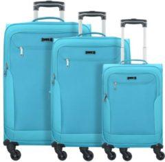 Travel Line 6804 4-Rollen Kofferset 3tlg. D&N petrol