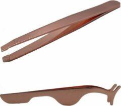 Pincet + Wimperpincet – Pincet Epileer – Stevig metaal – Pincet voor Wimper - Koperkleurig- oDaani