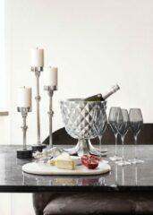 Sizland Dezign KEILANI wijn- champagnekoeler - Metaal - Zilver
