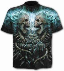 Spiral Direct Heren Tshirt -S- FLAMING SPINE Zwart