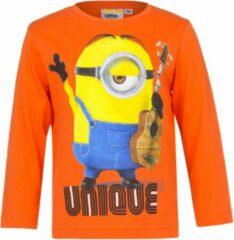 Minions Minion shirt met lange mouw - Unique - oranje - maat 98/104 (4 jaar)