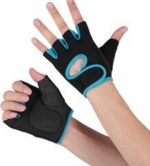 Q -Garant Fitnesshandschoenen - Sporthandschoenen - Zwart/Blauw - Maat S