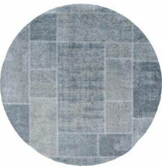 Donkergroene Veercarpets Vloerkleed Mijnen - Rond - ø160 cm - Donker Groen - Patchwork