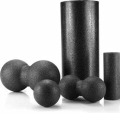 Zwarte U-Fit One U Fit One® 5-Delige Foam Roller Set - Massage roller - Massage Ball - Yoga roller- Fitness roller - Pilates Roller - Massage Bal - massage roller foam