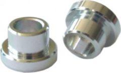 Kind Shock EYELET KS Alu Buchse für Dämpfer, 12 mm, Bohrung 8 mm, für 24,0 mm Aufbaustärke, silber (1 Paar)