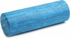 Fascia/pilates rol pro - blauw gemarmerd blue marble (45 cm) Yogablok YOGISTAR