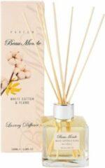 Creme witte Beaumonde BM Geurstokjes White Cotton & Ylang Luxury 100ml
