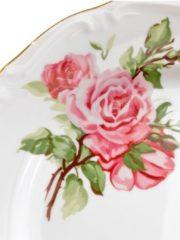 CreaTable 16035 Tafelservice Maria Theresia, Rosen, für 6 Personen, rund, Porzellan, rosa/gold (1 Set, 12-teilig)