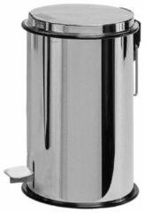 Roestvrijstalen Laminart Pedaalemmer RVS glans 3 liter / afvalbakje