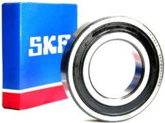 Zanussi-electrolux Kugellager 6206 LLU NTN/SNR (30 x 62 x 16 mm, spritzwassergeschützt, beidseitige rote Kautschukabdichtung) für Waschmaschinen 62062RS