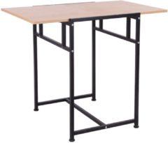 HOMCOM Klapptisch Schreibtisch 2 in 1 Spanplatte Walnuss Schreibtisch Esstisch Büro-möbel Arbeitstisch
