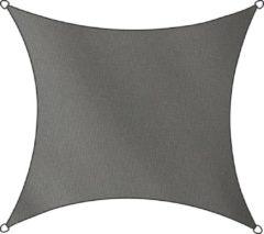 Antraciet-grijze Livin' outdoor Schaduwdoek - Polyester - Vierkant - 5 m - Antraciet