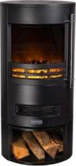 Zwarte Nordic fireplace eurom elektrische haard