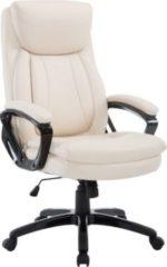 CLP Bürostuhl XL-PLATON mit hochwertiger Polsterung und Kunstlederbezug I Chefsessel mit stufenloser Sitzhöhenverstellung I Drehstuhl mit Laufrollen