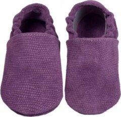 Hobea Babyslofjes paars suede met reliëf (Kruip)