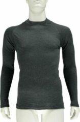 Merkloos / Sans marque Thermo shirt antraciet grijs lange mouw voor heren M antraciet