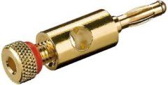 Goobay 11684 Pluimstekker Stekker, recht Goud, Rood 1 stuk(s) Bulk