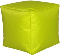Sitzwürfel Hocker Sitzkissen Nylon Limone 40x40x40 cm Linke Licardo Limone