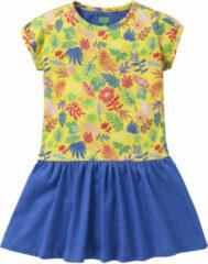 Gele Oilily Jersey jurkje met duo print in vrolijke kleuren