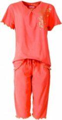 Irresistible Dames Pyjama Oranje met driekwart broek IRPYD1412A Maten: M