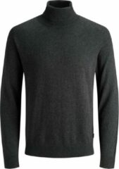 Donkergrijze Jack & Jones - JJEEMIL KNIT ROLL NECK NOOS - Dark Grey Melange - Mannen - Maat S