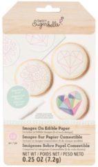 Witte Sweet Sugarbelle eetbare plaatjes voor op koekjes set 2