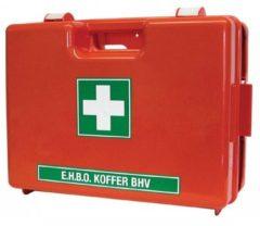 Universeel Ehbo-koffer oranje met wandhouder, dubbelvaks