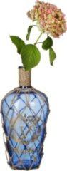 Relaxdays Deko Flasche maritim blau