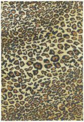 Eazy Living Easy Living - Quantum-Leopard Vloerkleed - 80x150 cm - Rechthoekig - Laagpolig Tapijt - Modern - Meerkleurig