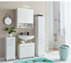 Badezimmermöbel-Serie Sina Casamaxx Weiß