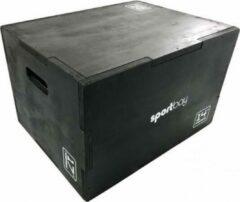 Zwarte Sportbay 3-in-1 houten plyo box (Klein)